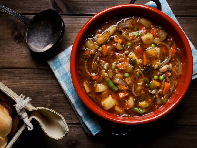 Vegetable-heavy soups are a great option for dinner that won't increase the calorie count.