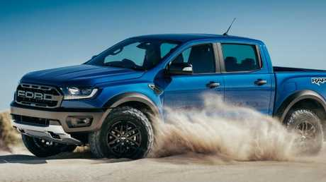 The Ford Ranger Raptor is due in Australian showrooms by the end of 2018. Picture: Supplied.