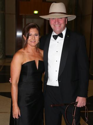Natalie and Barnaby at the federal Parliament Midwinter Ball in 2017. Picture: Ray Strange
