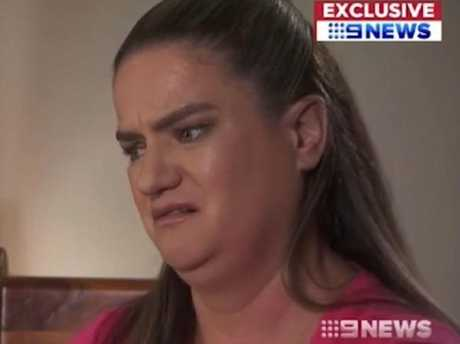 Heartbroken mum Janelle Saunders has spoken about discovering her daughter's body. Picture: Channel Nine
