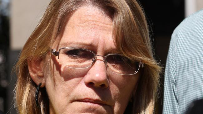 Vicki Blackburn outside Brisbane Magistrates Court.