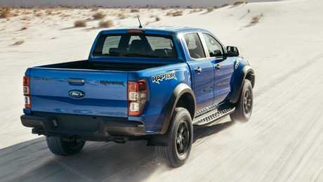 The Raptor gets a wider body and desert-racer suspension. Picture: Supplied.