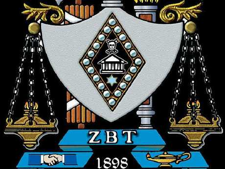 The Zeta Beta Tau fraternity crest. Picture: Supplied