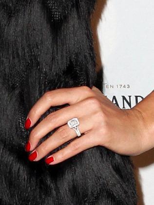Jasmine Yarbrough's huge sparkler. Picture: Christian Gilles