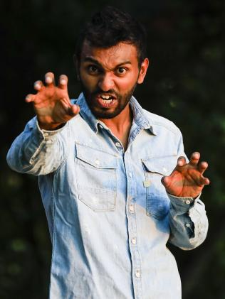 Nazeem Hussain wants Pauline Hanson to come along to one of his Queensland shows in March. Picture: Dylan Robinson