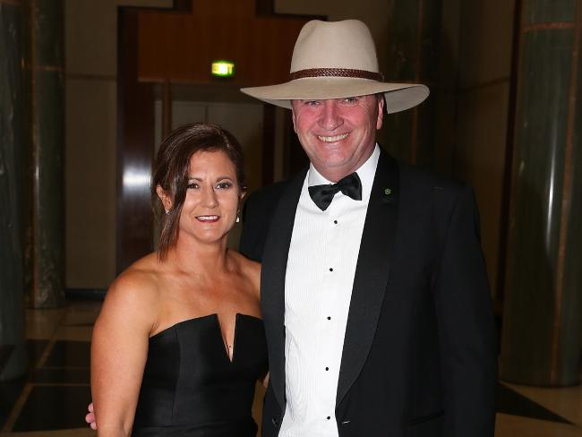 Barnaby Joyce and his wife Natalie at last year's Midwinter Ball. Picture: Ray Strange