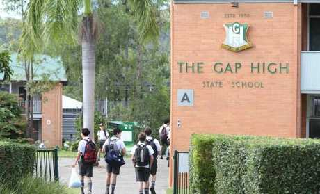 Students at The Gap State High yesterday. Picture: Peter Wallis