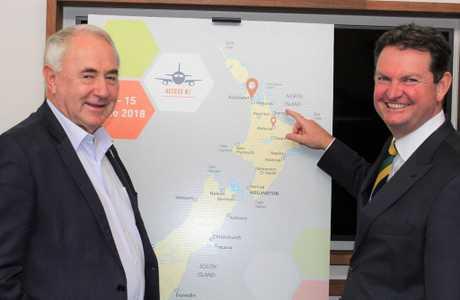 Toowoomba Regional Council Mayor Paul Antonio and TSBE Executive Chairman Shane Charles at the Access NZ launch.