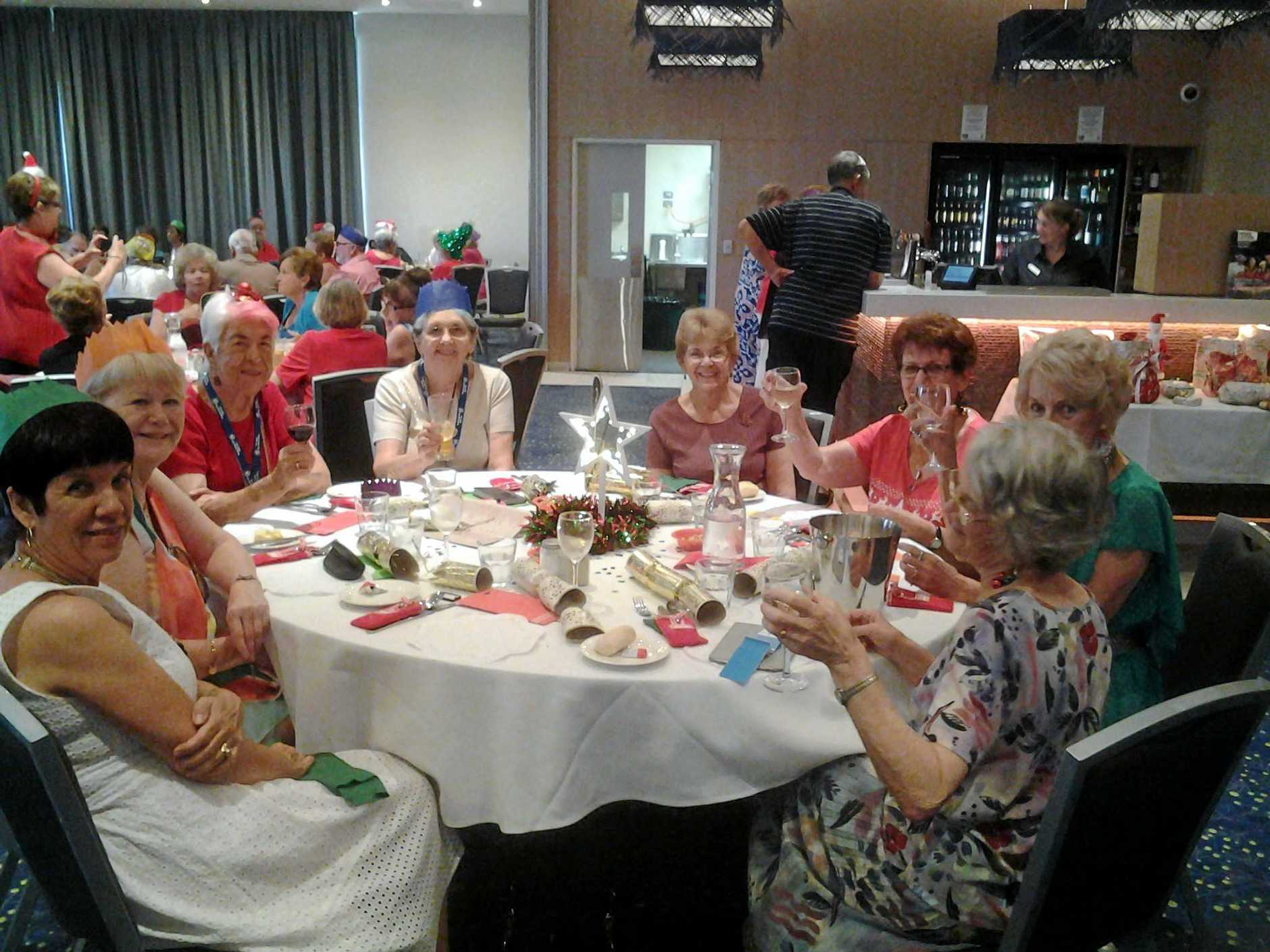 HAVING FUN: Forest Lake 50+ Club members had a great Christmas Party at Blue Fins Club, Inala.