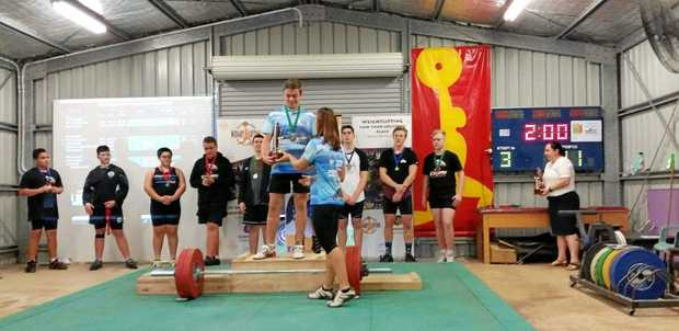 NEW STUFF: Whitsunday Weightlifter Jaspa Hope is just one young athlete that will benefit from new Olympic equipment.