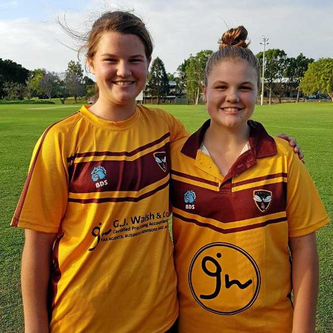 Ruth Johnston (left) was awarded the Jodie Fields Scholarship following an impressive season with bat and ball.
