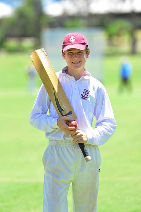 Ipswich Grammar School cricketer Danny Young, 15, has been picked for the Queensland U15 Schoolboys side.