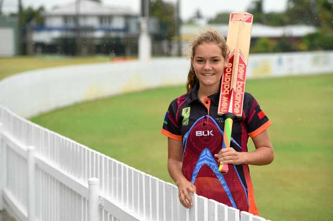 WONDER WOMAN: Paige Hatherell, 14, is playing in Alice Springs with the Queensland Indigenous Womens Cricket Team.