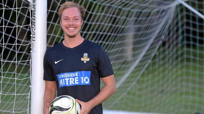 REVVED UP: James Verdin is ready to run on for the Sunshine Coast Wanderers for the first game of the season on Saturday.