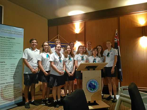 LIONS ROAR: Twelve contestants vied for the Lions Youth of the Year title at Sunshine Beach this week.