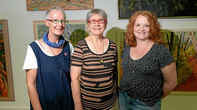 ART INTERVENTION: Local artists L-R Peta Lloyd, Carmen Beezley-Drake and Emma Ward are among a group of local artists who have been invited to curate an exhibition based on the Rockhampton Art Gallery's permanent collection.
