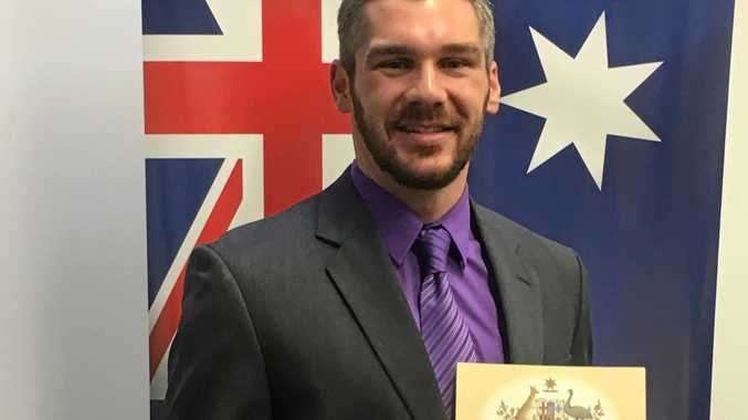 New Australian citizen Peter Hollenbeck hopes to represent his adopted country at the 2018 Commonwealth Games.