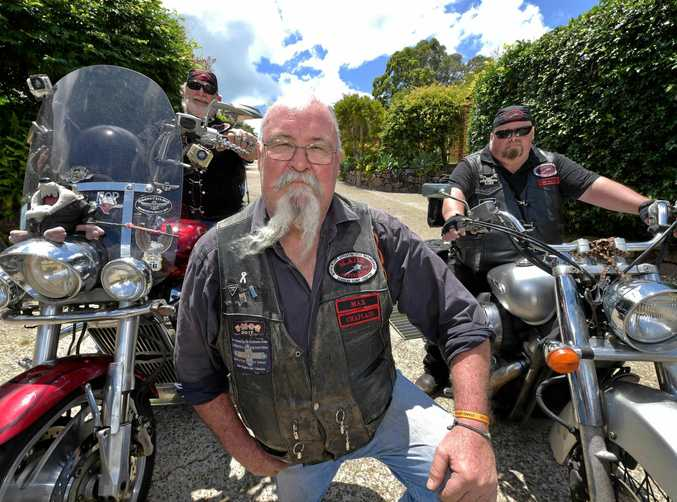 """MACE Sunshine Coast chapter members David""""'Tazz"""" Martin, Max Ray and Eldon Morse are ready to help kids who have been bullied."""