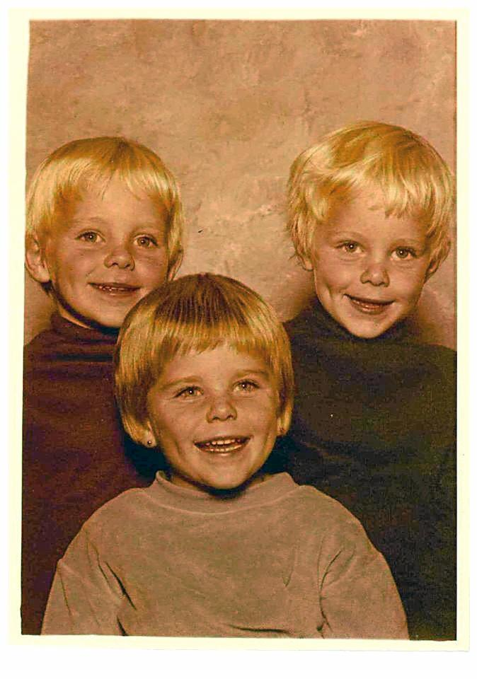 The triplets in their younger days. Photo: Renee Albrecht