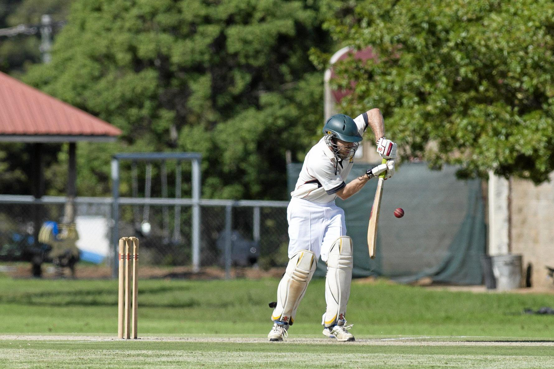 Ross Milton bats for Metropolitan Easts against Wests in Toowoomba Cricket A grade open two-day competition final at Captain Cook ovals, Saturday, March 25, 2017.