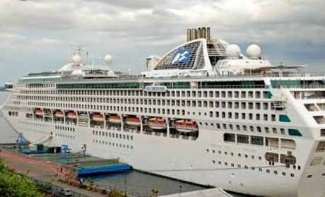 The Sea Princess arrives in the Whitsundays tomorrow morning.