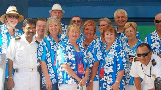 The Airlie Beach Cruise Ship Ambassadors will greet passengers alighting form the Sea Princess tomorrow morning.