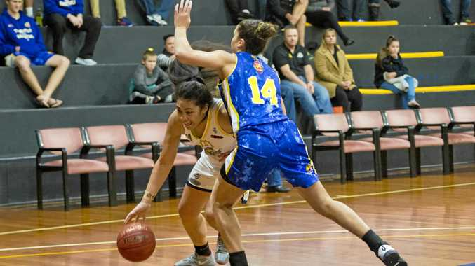 WELCOME BACK: Milomilo Nanai and Townsville's Chevannah Paalvast go at it back in 2016.
