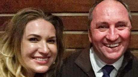 Vikki Campion with Barnaby Joyce.