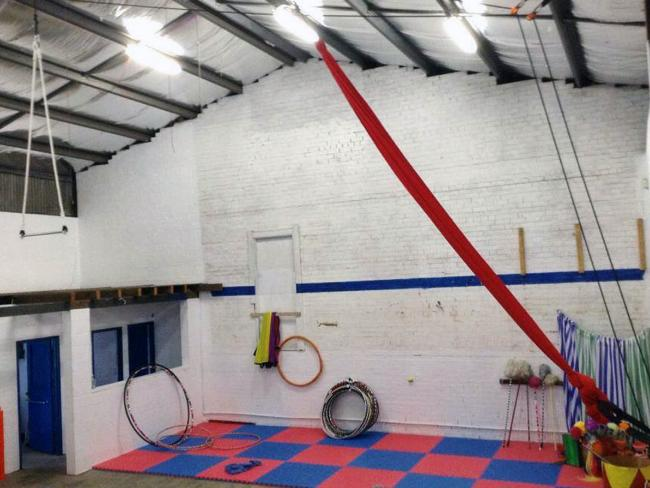 Inside The Arcade Circus training school in Katoomba run by Therese Cook and her daughter Yyani Cook-Wiliams.