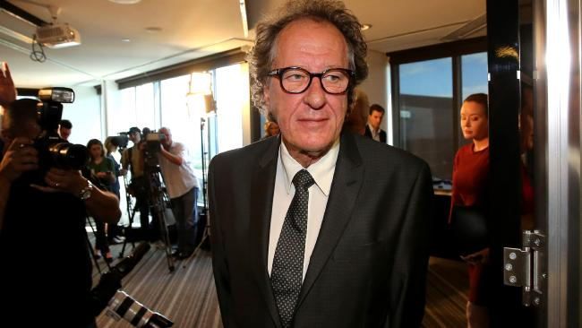 Geoffrey Rush is attempting to suppress accusations contained in defence documents. Picture: Stuart McEvoy