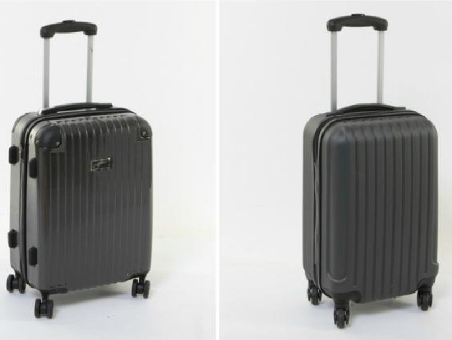 The Big W Jetstream (left) and the hard case Kmart suitcase. Picture: Choice