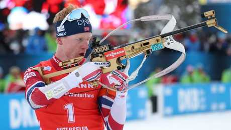 Johannes Thingnes Boe takes aim at a swag of medals.