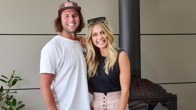 The Block winner Josh Barker and Elyse Knowles renovated the home. Picture: Nicki Connolly