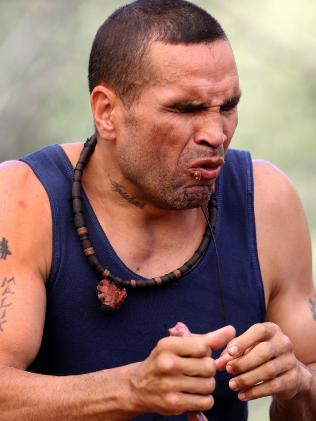 Anthony Mundine in the jungle. Picture: Nigel Wright/Network Ten