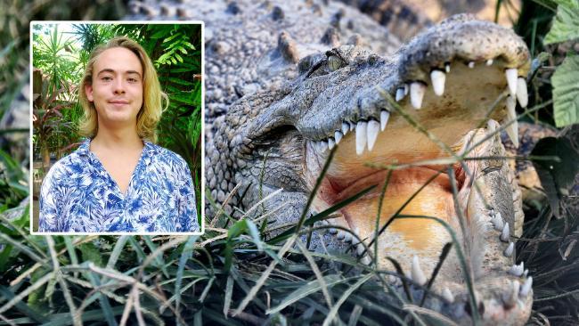 Nick Claton had an encounter with a crocodile in Cape Tribulation.