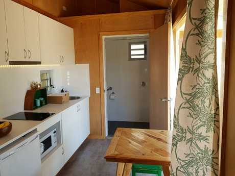 All the homes have a built-in kitchenette.