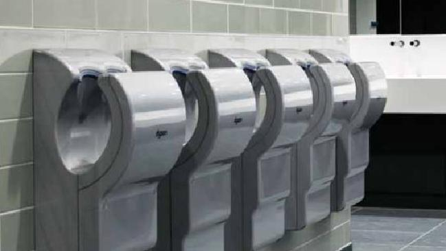 You'll never look at those airport hand dryers the same way again. Picture: Supplied