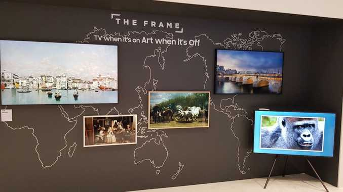 The new 43-inch The Frame was launched at the Samsung Forum this week. The frames image in the centre of the photograph is the new 43-inch.