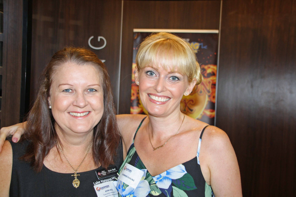 Image for sale: Kym Bell of Best Western Kawana and Summer Darling from Kawana Chamber of Commerce at the chamber's Kurek Ashley morning at Brightwater Hotel.