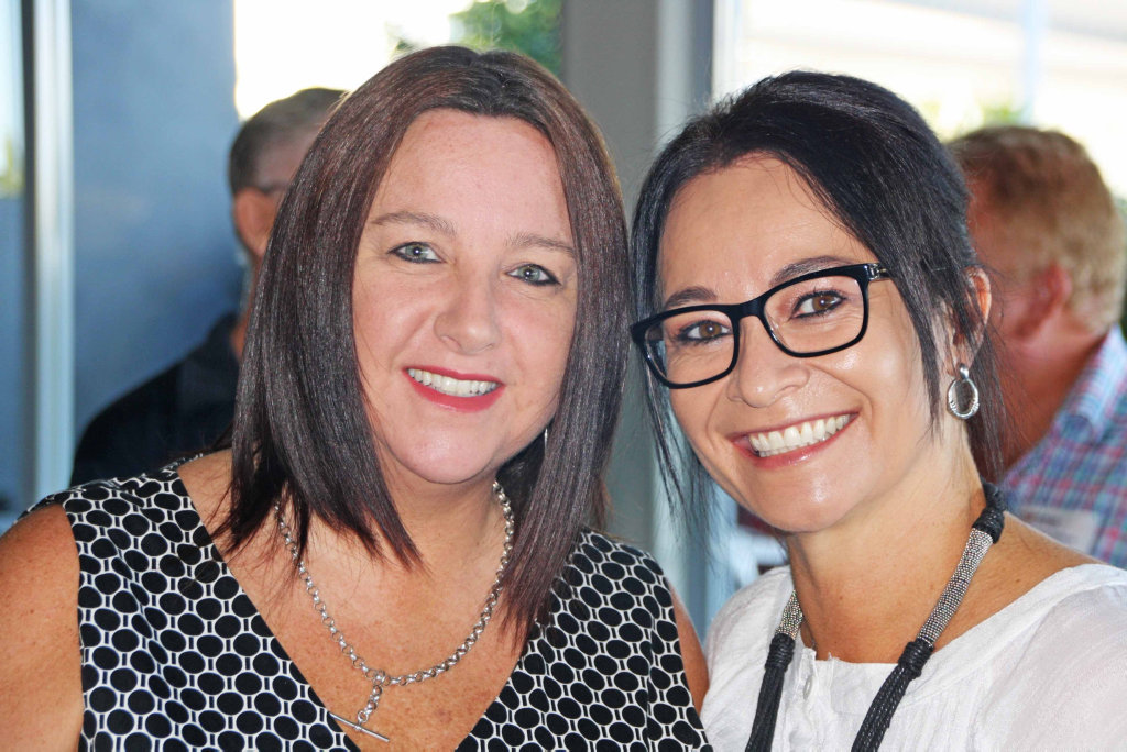 Image for sale: Zoe Sparks of Spectacular Events and Angela Miles of STEPS at the Kawana Chamber of Commerce breakfast at Brightwater Hotel.