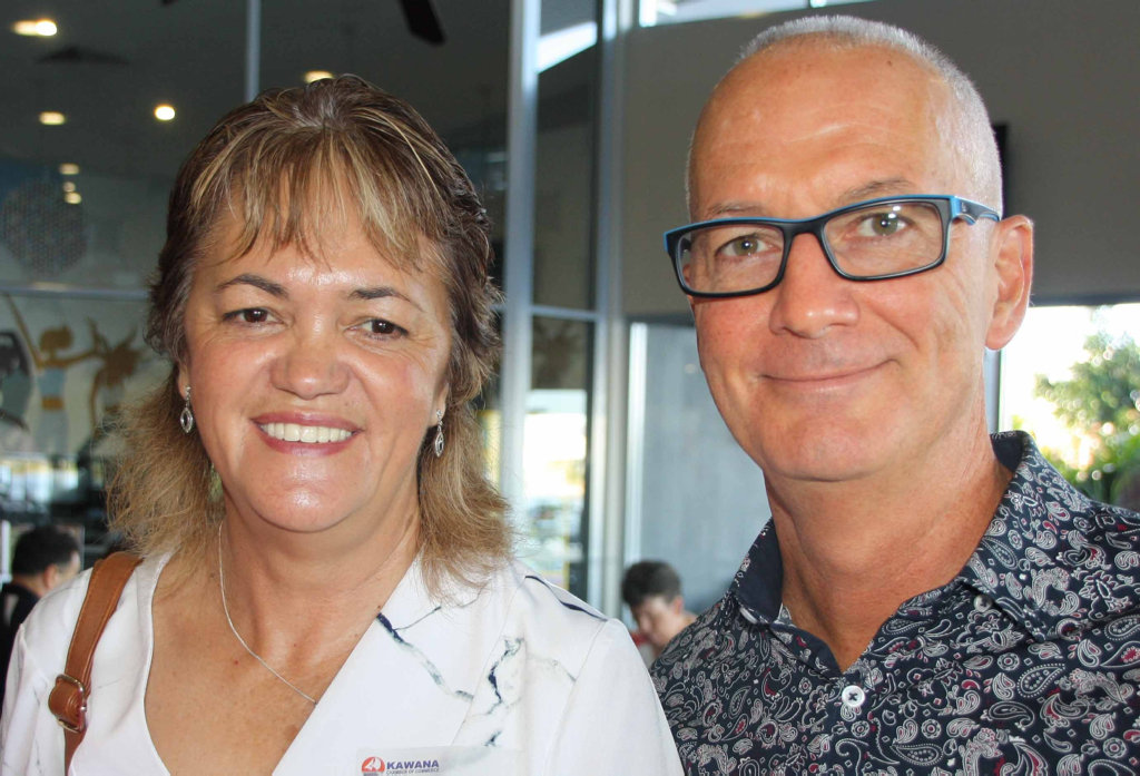 Image for sale: Darna Ellis of Mylestones Employment with Bruce Williams of Easy Teams at Brightwater Hotel for the Kawana Chamber of Commerce breakfast meeting.