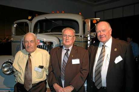 REMEMBERING THE MAN: Roy Crotty, Allan Mclean and Jim (JJ) Hurley   with the WC22 White they restored together.