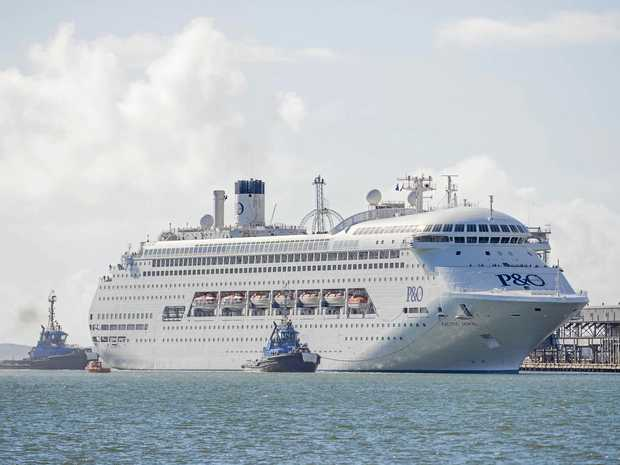 The second P&O cruise ship Pacific Jewel arrived in Gladstone, with 2000 passengers, 90 per cent of whom got off and spent $297 each.