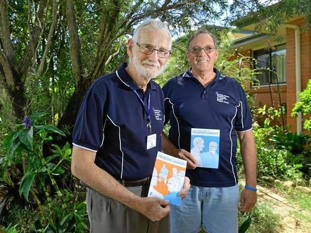 JOIN UP: Len Lamprecht and Dennis Ellis from the Prostate Cancer Foundation of Australia Ipswich Support Group. They are looking for new members.