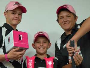 Pink stumps hitting sixes for cause