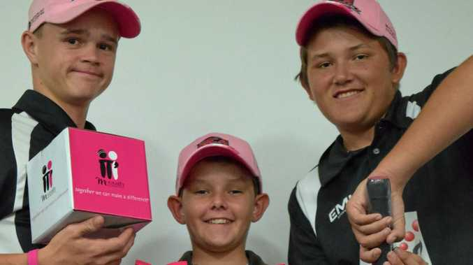 Junior cricketers throughout Mackay will be using pink kit on Pink Stumps Day.
