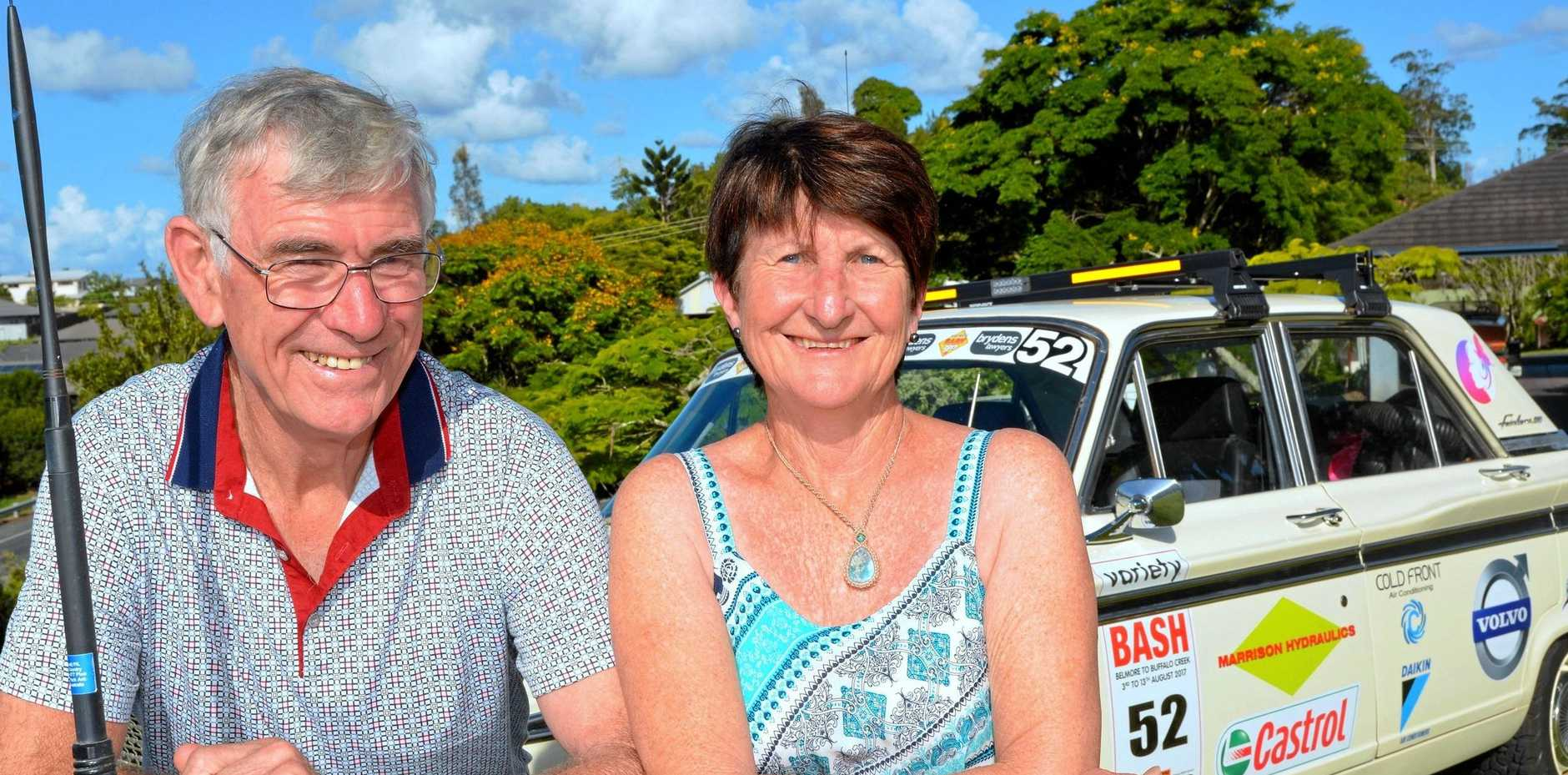 GIVE CHARITY A BASH: Bob and Robyn Shackell prepare for another stint of dirt-road driving with this year's Variety Bash.