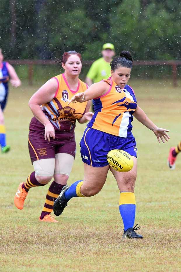 KICK: The Waves' Skye Zielke, who is Brisbane Lions player Emma Zielke's sister, will play today.