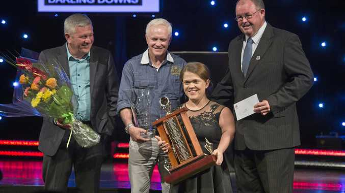Paralympian Claire Keefer is named Sports Darling Downs Senior Sport Star of the Year at the Sports Darling Downs awards night at Rumours International last year.