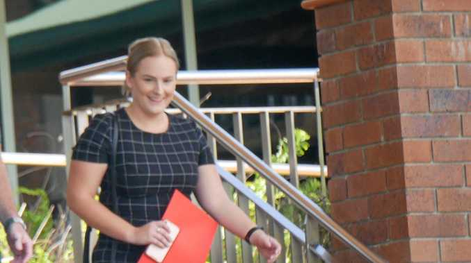 Breanna Emma-Lee Edwards, 18, of Eli Waters, outside Hervey Bay Magistrates Court.